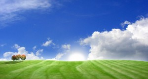Green-hill-with-blue-sky-landscape-desktop-wallpapers-and-photos-free