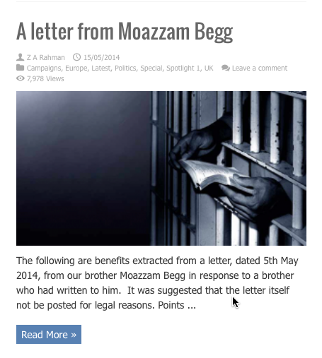 a letter from moazzam begg