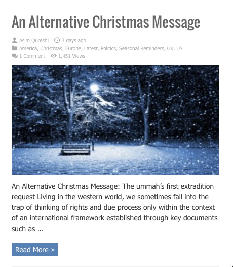 altervnative christmas message