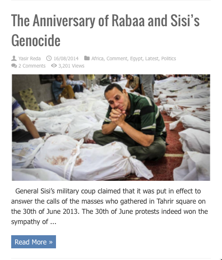 anniversay of rabaa and sisis genocide