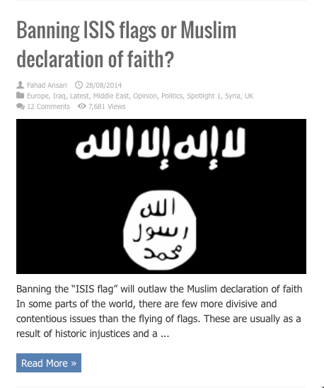 banning isis flags