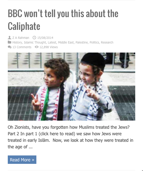 bc wont tell you this about caliphate