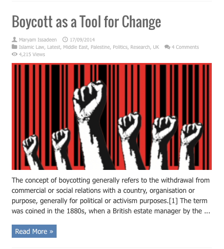 boycot as a tool for change