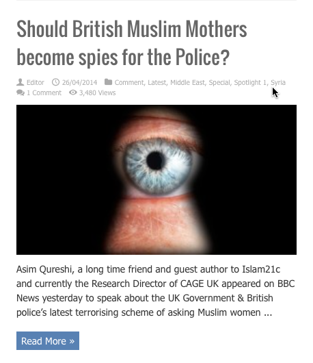 british muslim mothers speis for police