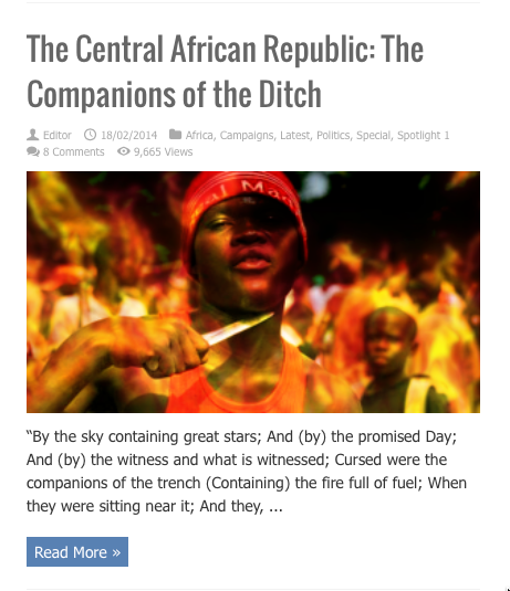 central african companions ditch