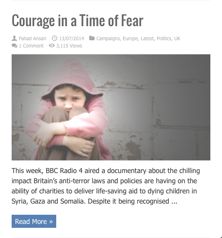 courage in a time of fear