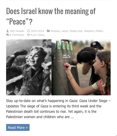 does israel know the meaning of peace