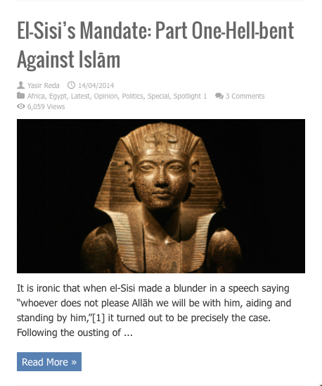el sisis mandate hell bent against islam