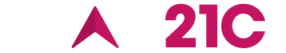 logo white and pink