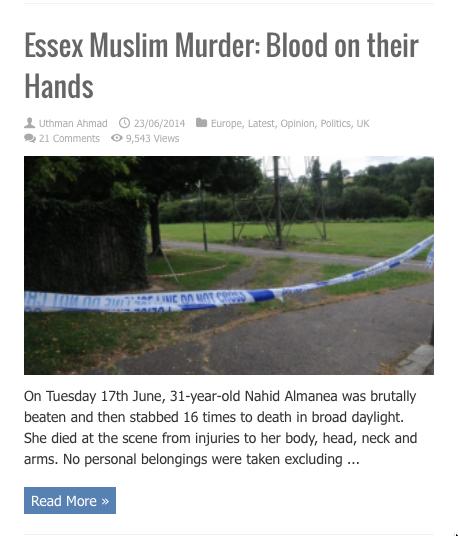 essex muslim murder
