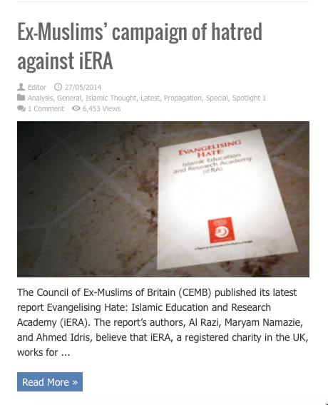 exmuslims campaign against iera