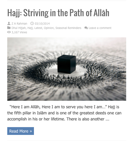hajj striving in path of allah