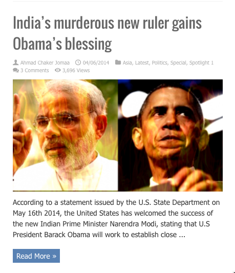indias murderous ruler gets obamas blessing