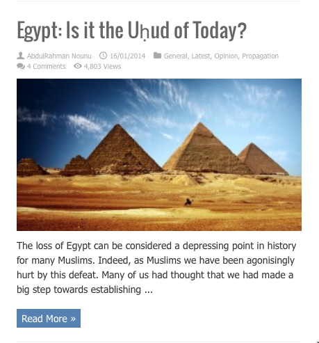 is egypt the uhud of today