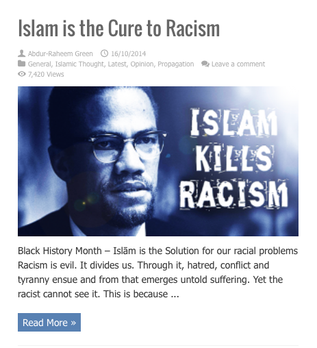 islam is the cure to racism