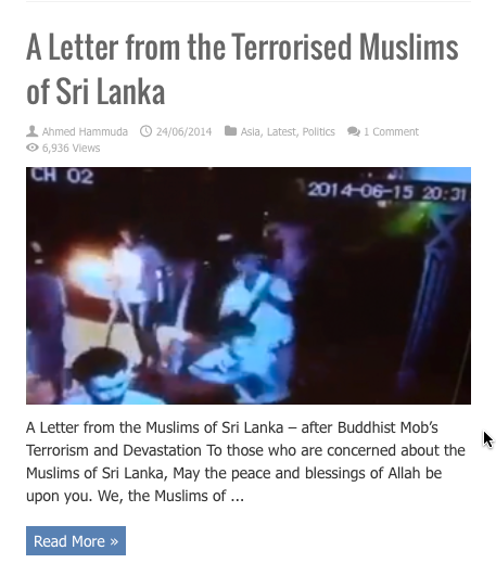 letter from terrorrised muslims shri lanka