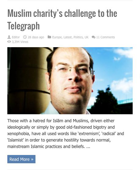 muslim charitys challenge to telegraph