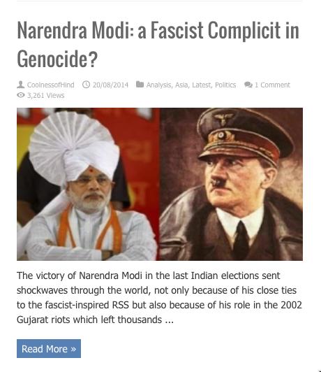 narendra modi complicit facsit genocide