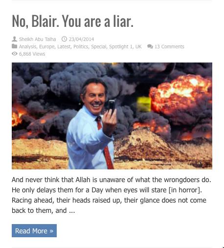 no blair you are a liar