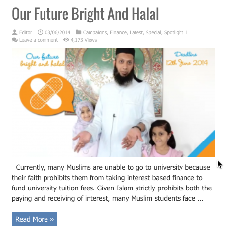 our future britght and halal