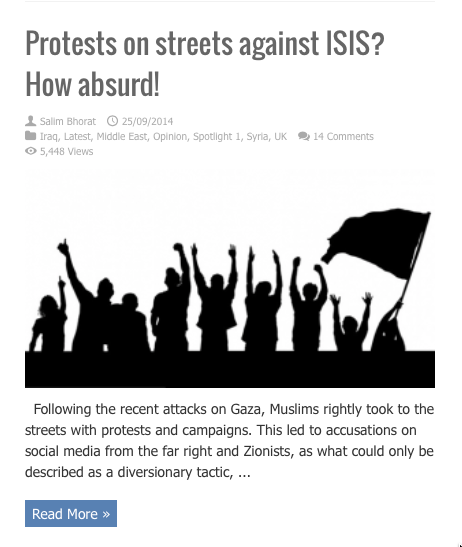 protests on street against isis