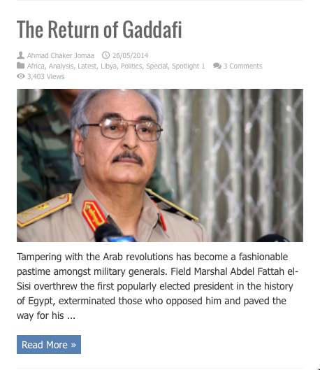 return of gaddafi