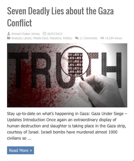 seven deadly lies about gaza