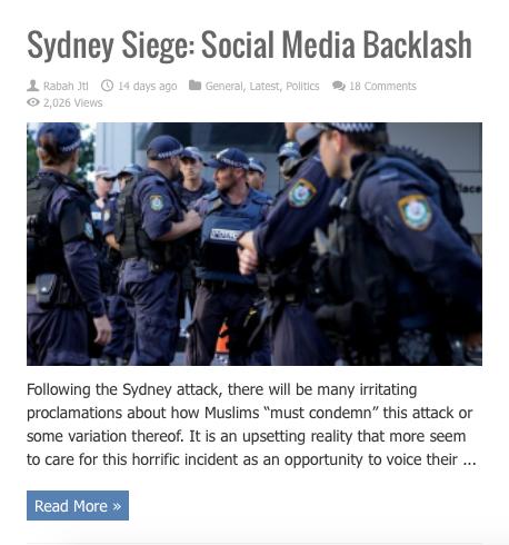 sydney siege social media