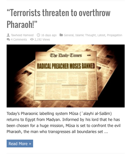 terrorists threaten pharaoh