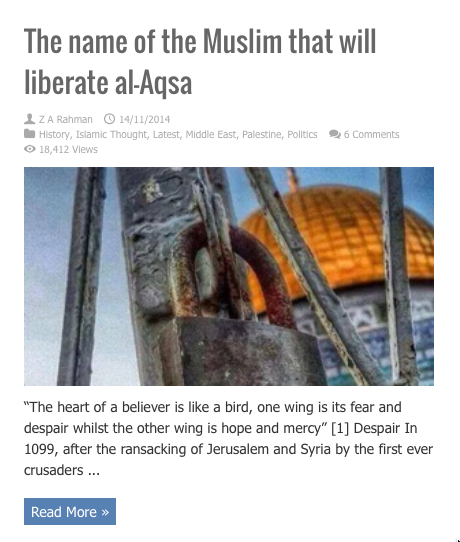 the name of the muslim that will iberate al aqsa