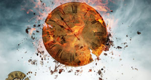 clock breaking into pieces