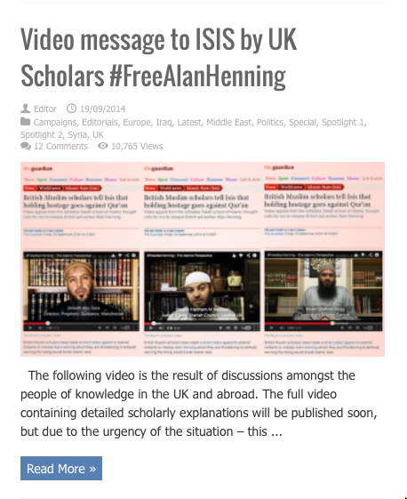 video message to isis by uk scholars