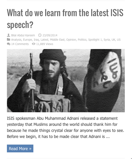 what do we learn from latest isis speech